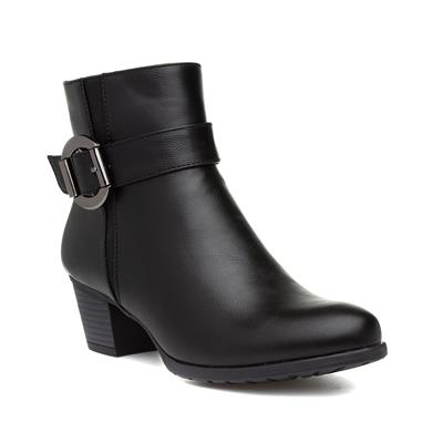 Womens Black Heeled Ankle Boot