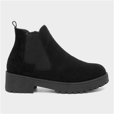 Womens Black Zip Up Chelsea Boot