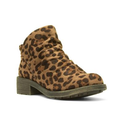 Tami Womens Brown Leopard Ankle Boot