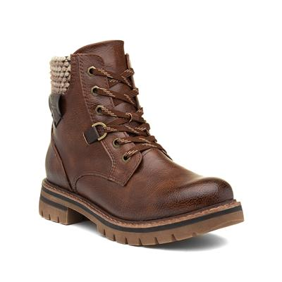 Womens Chestnut Lace Up Ankle Boot