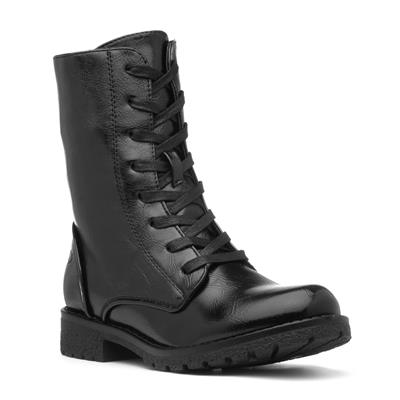 Chloe Womens Black Lace Up Boot