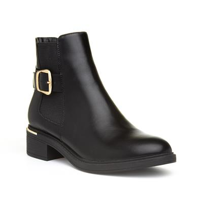 lilley womens black faux suede wedge ankle boot 18158