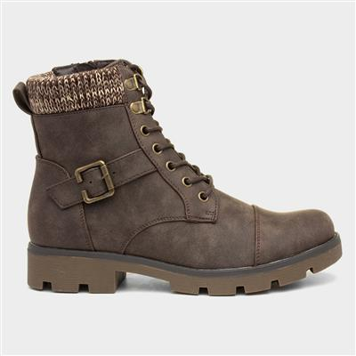 Womens Ankle Brown Boot