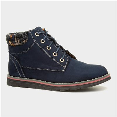 Sycamore Womens Navy Lace Up Ankle Boot