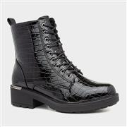 Heavenly Feet Scarlett Womens Black Patent Boot (Click For Details)