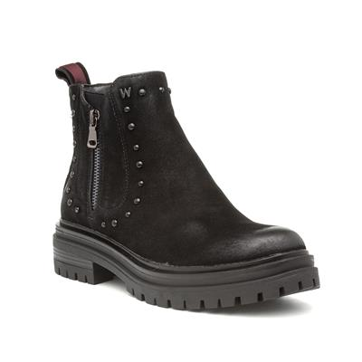Courtney Womens Black Ankle Boot