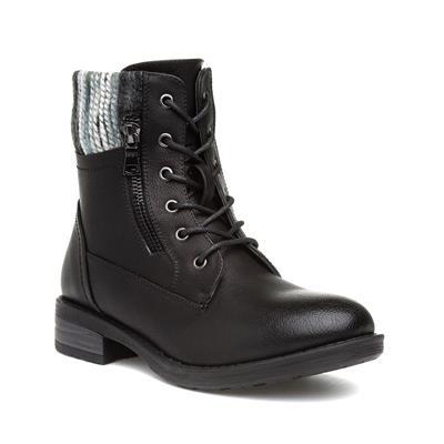 Womens Black Zip Up Boot