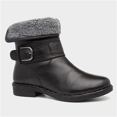 Matterhorn Womens Black Leather Ankle Boot