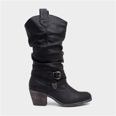 Lewis Womens Sidestep Black Boot