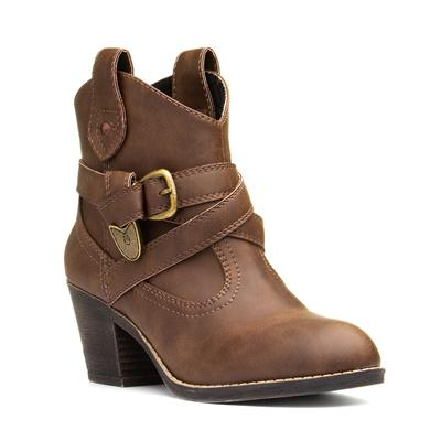 Satire Graham Womens Brown Ankle Boot
