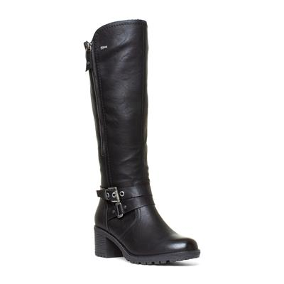 Womens Black Buckle Boots