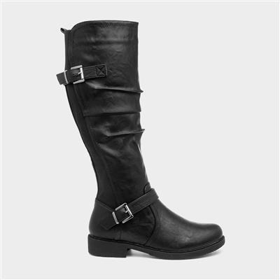Zoe Womens Black Knee High Boot