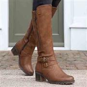 Relife Womens Brown Heeled Boots (Click For Details)