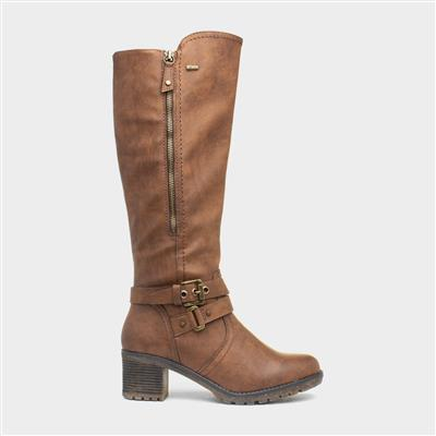 Womens Brown Heeled Boots