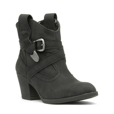 Satire Womens Black Pull On Ankle Boot