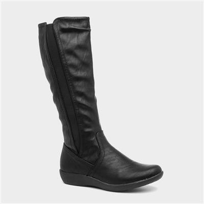 Sheri Womens Black Calf Boot