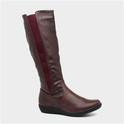 Sheri Womens Wine Calf Boot