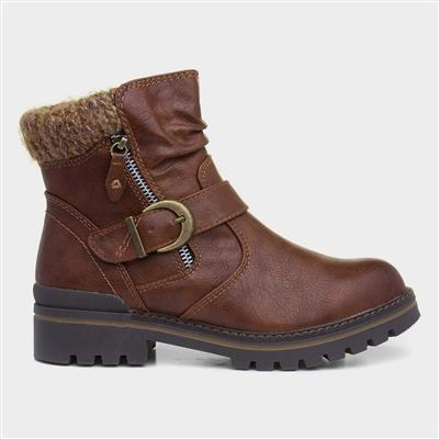 Chestnut Womens Brown Ankle Boot