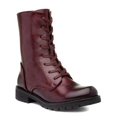 Chloe Womens Wine Calf Boot