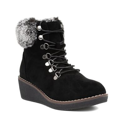 Windsor Womens Black Lace Up Ankle Boot