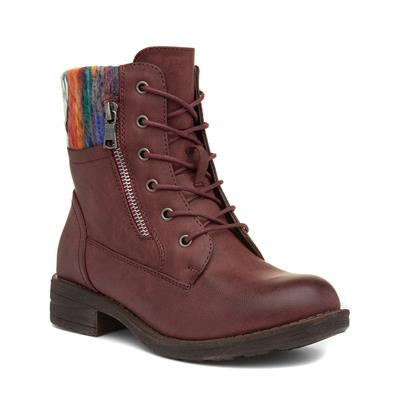Womens Burgundy Ankle Boot