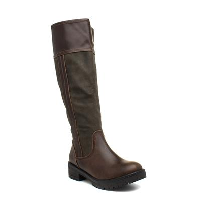 Burley Womens Brown Riding Boot
