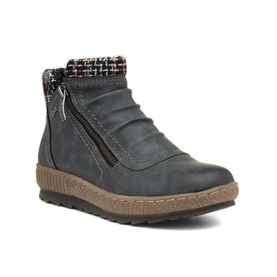 Womens Grey Ankle Boot