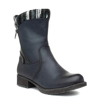 Womens Navy Calf Boot