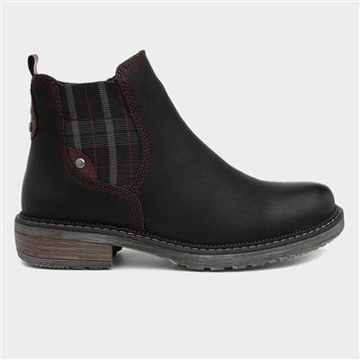 Womens Black Cheslea Boot
