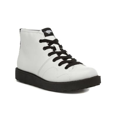 Jaiden Rancho Womens White Lace Up Boot
