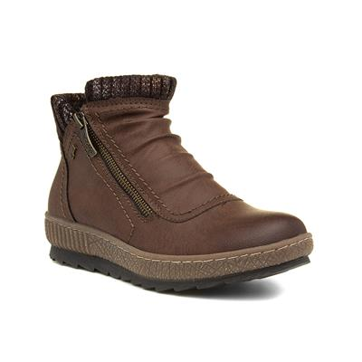 Cognac Womens Brown Ankle Boots