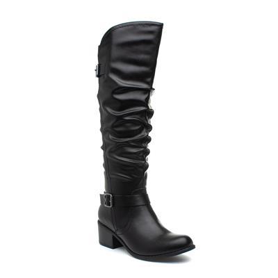 Womens Knee High Boot in Black