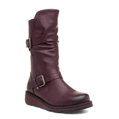 Hannah Womens Burgundy Calf Boot