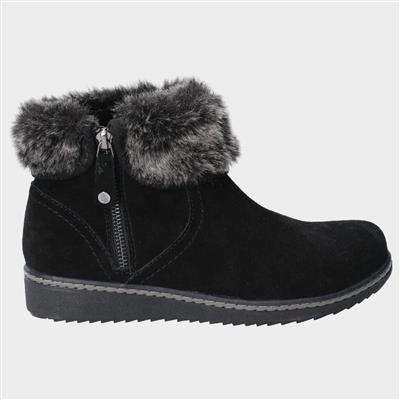 Womens Penny Zip Ankle Boot in Black
