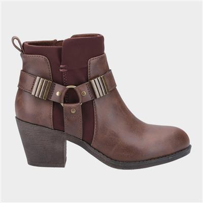 Womens Setty Ankle Boot in Brown