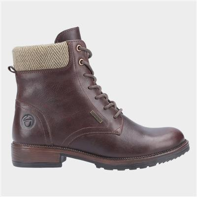 Womens Minety Leather Boot in Brown