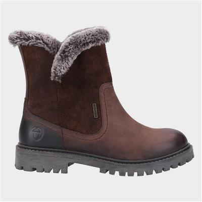 Womens Aldestrop Leather Boot in Brown