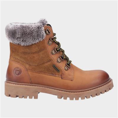 Womens Spelsbury Leather Boot in Tan