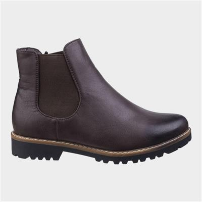 Womens Grace Chelsea Boot in Brown