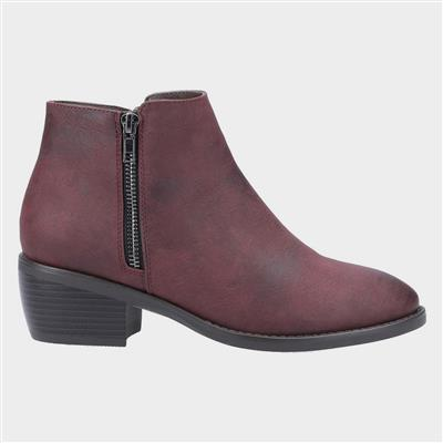 Womens Ruby Ankle Boot in Red
