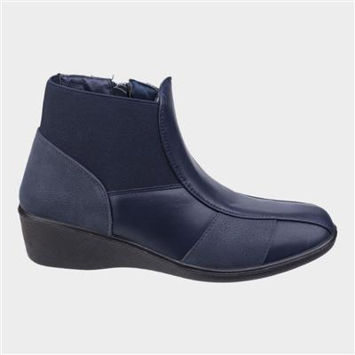 Womens Festa Ankle Boot in Navy