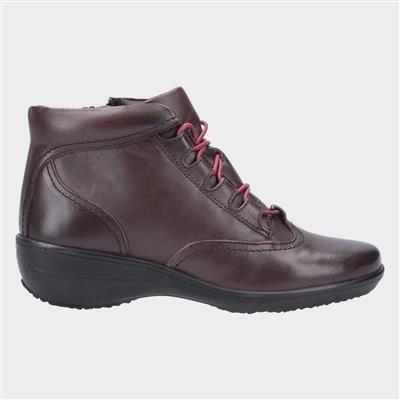 Womens Merle Burgundy Leather Boot