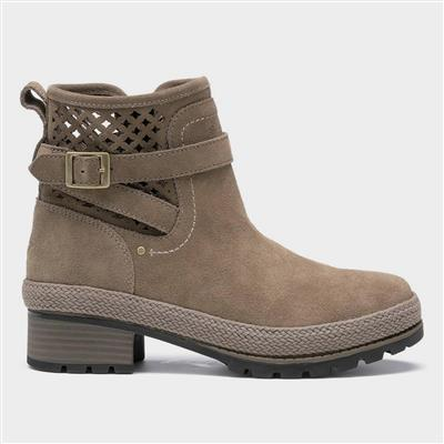 Liberty Perforated Womens Boots in Grey