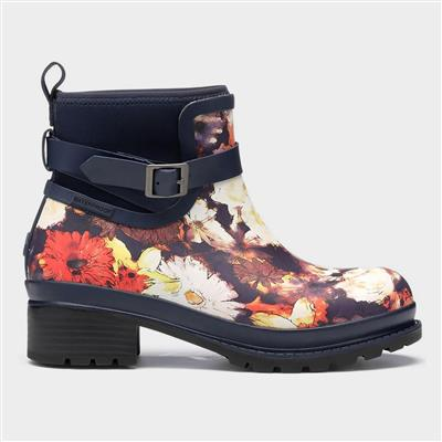 Liberty Rubber Ankle Womens Boots Blue