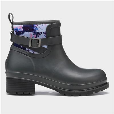 Liberty Rubber Ankle Boots in Grey