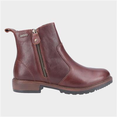 Womens Ashwicke Zip Ankle Boot in Brown