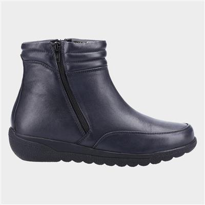 Morocoo Womens Ankle Boot in Navy