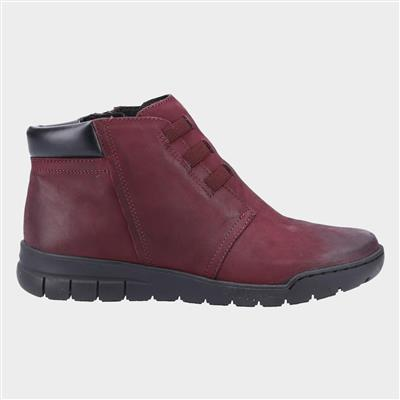 Carmen Womens Ankle Boot in Red