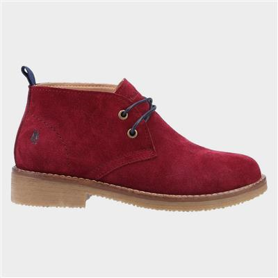 Marie Womens Red Suede Ankle Boot