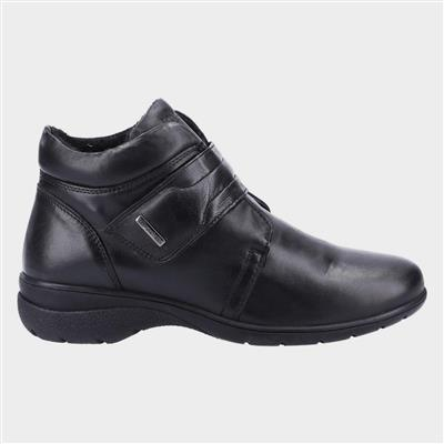 Chalford Womens Black Leather Ankle Boot